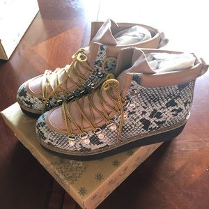 Free People Snake Skin Boots-